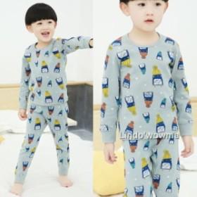 パジャマ キッズ用 インナー シャツ  きれいめ 子供服 男の子 春秋 あったかパジャマ  かわいいルームウェア 部屋着