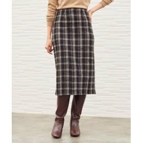 (titivate/ティティベイト)フェイクツイードタイトスカート/レディース ブラック