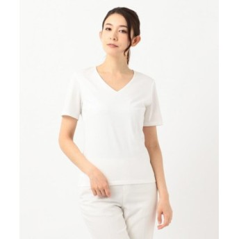 (ICB/ICB)【定番人気】Premium Jersey Vネック半袖カットソー/レディース ホワイト系 送料無料