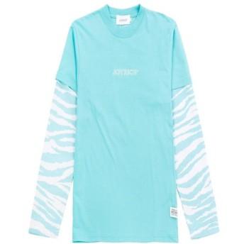【SALE 50%OFF】Zebra Mesh Sleeve 2 in 1 Tee / PEPPERMINT BLUE