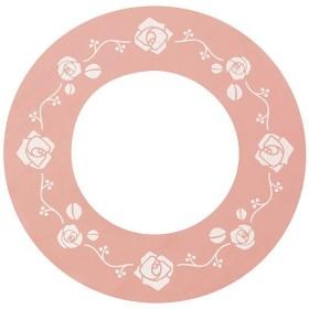ガスコンロ汚れ防止シート(2枚組) - セシール ■カラー:ピンク(無地) E(ピンクローズ) D(ブラウンサークル) ブラウン(無地)