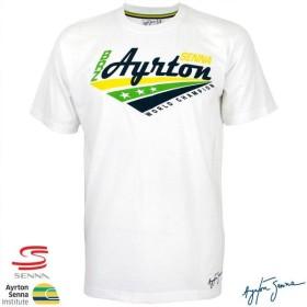 アイルトン・セナ ブラジルカラー公式白Tシャツ