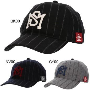 マンシングウェア ゴルフ 帽子 キャップ メンズ ウール混ストライプ柄キャップ Munsingwear MGBMJC09