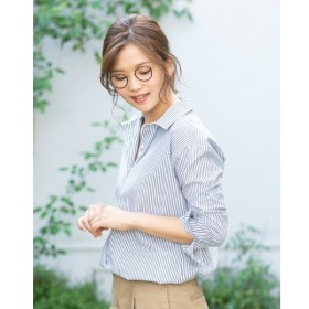 [マルイ]【セール】ロンドンストライプ長袖シャツ レギュラー衿/ブリックハウス(BRICKHOUSE)