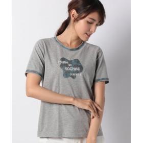 レリアンプラスハウス ロゴ刺繍Tシャツ レディース グレー系 17+ 【Leilian PLUS HOUSE】