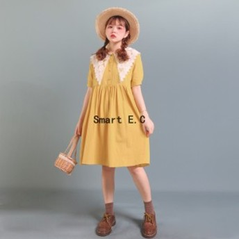 【夏新作】半袖 綿ロング 体型カバーセワンピース レディース ワンピース 全2色--yf235