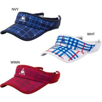 ルコックスポルティフ レディース サンバイザー テニス用品 帽子 QTCOJC50