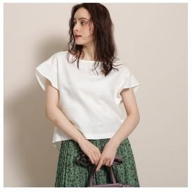 【アナトリエ/anatelier】 RUE DES CHATS(ルデシャツ)綿麻袖フリルプルオーバー