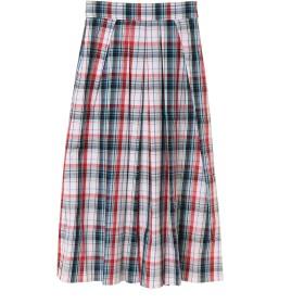 Arumlily マドラスチェックスカート ミモレ丈・ひざ下丈スカート,レッド
