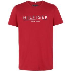《期間限定 セール開催中》TOMMY HILFIGER メンズ T シャツ レッド S オーガニックコットン 100%