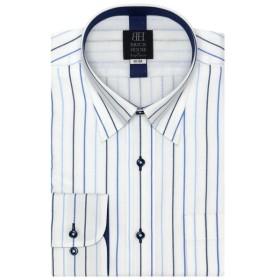 [マルイ]【セール】形態安定 ノーアイロン メッシュインナー付き長袖ワイシャツ スナップダウン ブルーストライプ 標準体/ブリックハウス(BRICKHOUSE)