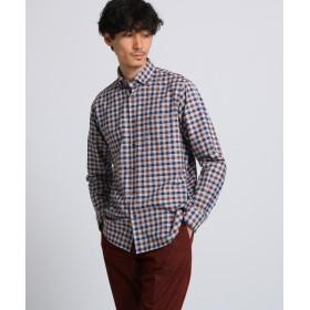 タケオキクチ トップチェックワイドBDシャツ メンズ ダークブラウン(243) 03(L) 【TAKEO KIKUCHI】