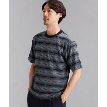 【30%OFF】 グリーンレーベルリラクシング SC マルチランダムボーダー クルー SS Tシャツ メンズ NAVY S 【green label relaxing】 【セール開催中】