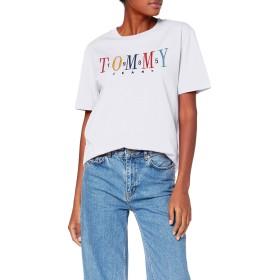 トミージーンズレディースTJW 1985刺繍TEE Tシャツ、クラシックホワイト100、XL