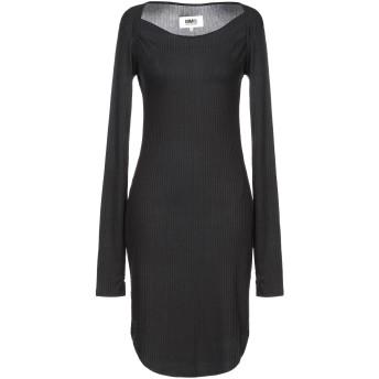 《セール開催中》MM6 MAISON MARGIELA レディース ミニワンピース&ドレス ブラック XS レーヨン 95% / ポリウレタン 5%