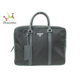 プラダ PRADA ビジネスバッグ 美品 - 2VE661 黒 ナイロン×レザー  値下げ 20190825