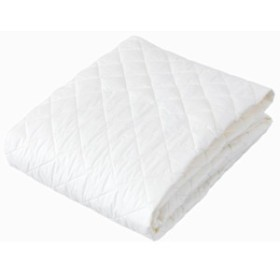 トクナガ 敷きパッド 綿100% 日本製 洗える 消臭 抗菌加工 ゴムバンド付き アイボリー シングル