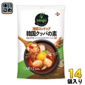 CJジャパン bibigo(ビビゴ) 韓国クッパの素 海鮮スンドゥブ 28袋入(14袋入×2まとめ買い)〔料理の素〕