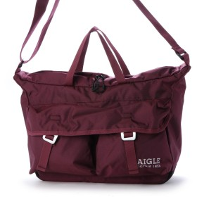 エーグル AIGLE NYLON SHOULDER BAG (ワイン)