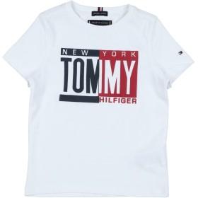 《セール開催中》TOMMY HILFIGER ボーイズ 3-8 歳 T シャツ ホワイト 3 コットン 100%