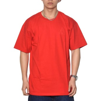 (ハフ) HUF Tシャツ メンズ 半袖 赤 TS00054 レッド M 大きいサイズ ストリート系 TRIPLE TRIANGLE PUFF TEE [並行輸入品]