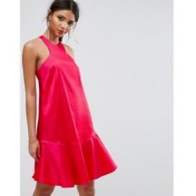 ワイ エー エス Y.A.S レディース ワンピース ワンピース・ドレス Studio Dress With Fluted Hem Teaberry