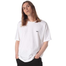 (バンズ) VANS 綿100% 胸ロゴ クルーネック 半袖 Tシャツ ホワイト/S