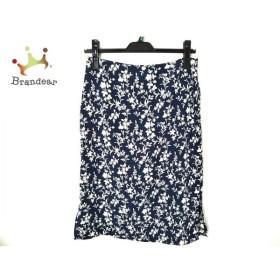 アニエスベー agnes b スカート サイズ36 S レディース 美品 ネイビー×ベージュ 花柄 新着 20190821