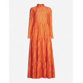 スティーヌ ゴヤ STINE GOYA レディース ワンピース ワンピース・ドレス Judy frilled-collar woven dress Red orange