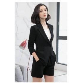 韓国 スーツ レディース セレモニー スーツ 大きいサイズ レディース ジャケット パンツスーツ ショート丈スカート ショートパンツ