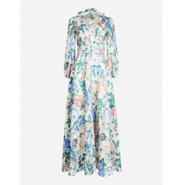 ジマーマン ZIMMERMANN レディース ワンピース ワンピース・ドレス Verity floral-print linen dress Cream floral