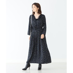 Demi Luxe BEAMS ウエストギャザー ワンピース