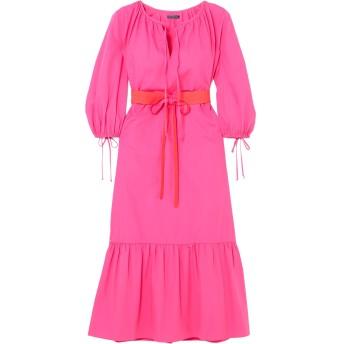 《9/20まで! 限定セール開催中》MDS STRIPES レディース 7分丈ワンピース・ドレス フューシャ 8 コットン 100%