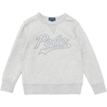 《9/20まで! 限定セール開催中》RALPH LAUREN ボーイズ 3-8 歳 スウェットシャツ ライトグレー 5 コットン 94% / ポリエステル 6% Cotton-Blend Sweatshirt