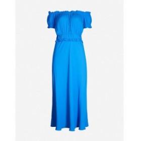 ホイッスルズ WHISTLES レディース ワンピース ワンピース・ドレス Floren off-the-shoulder crepe dress Blue
