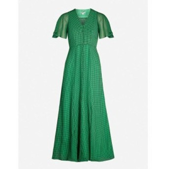 ホイッスルズ WHISTLES レディース ワンピース ワンピース・ドレス Cecily checked crepe midi dress Multi-coloured
