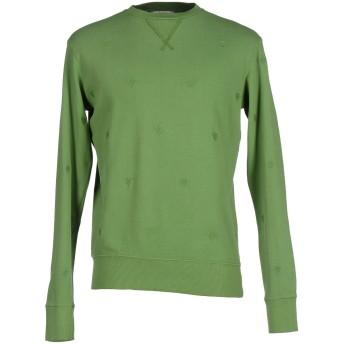 《9/20まで! 限定セール開催中》RODA メンズ スウェットシャツ グリーン M 100% コットン