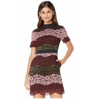 テッドベーカー Ted Baker レディース ワンピース ワンピース・ドレス Jaseyy Crew Neck Lace Paneled Dress Oxblood