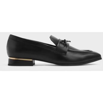 【再入荷】ボウディテールローファー / Bow Detail Loafers (Black)