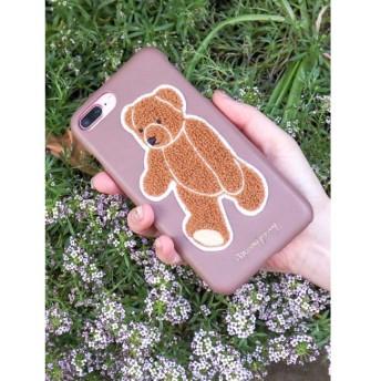 【メリージェニー/merry jenny】 teddyワッペンiPhoneケース