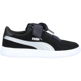 《9/20まで! 限定セール開催中》PUMA ガールズ 3-8 歳 スニーカー&テニスシューズ(ローカット) ブラック 10C 紡績繊維