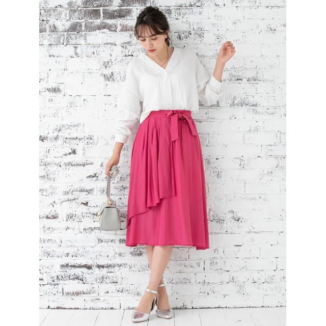 【fifth/フィフス】アシンメトリ-ラップスカート