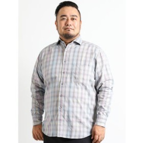 【GRAND-BACK:トップス】【大きいサイズ】ALEXANDER JULIAN 新彊綿多色チェック長袖シャツ