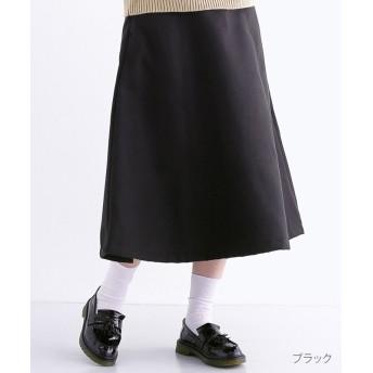 メルロー ウールタッチフレアスカート レディース ブラック FREE 【merlot】