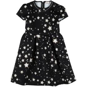 《セール開催中》ELISABETTA FRANCHI ガールズ 3-8 歳 ワンピース&ドレス ブラック 4 ポリエステル 95% / ポリウレタン 5%