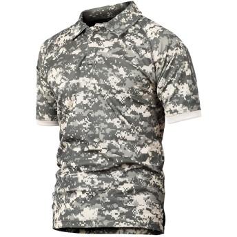 YFNT 夏 メンズ アウトドア タクティカル 半袖 ポロシャツ 折り襟 通気性、速乾性、吸汗性優れている (XL, AC)