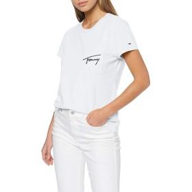 トミージーンズレディースTJWイージーポケットTEE Tシャツ、(クラシックホワイト100)、XL