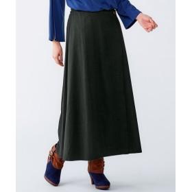 ロング丈ラップ風スカート(オトナスマイル) (大きいサイズレディース)スカート,plus size