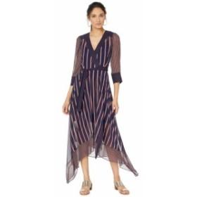 ビーシービージーマックスアズリア BCBGMAXAZRIA レディース ワンピース ワンピース・ドレス Woven Stripe Wrap Dress Pacific Blue/Vale