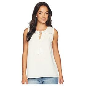 セセ CeCe レディース トップス シャツ ブラウス Antique White Sleeveless Tie Front Blouse with T XL Antique White [並行輸入品]